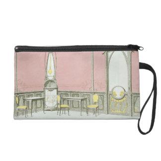 Interior design for a brasserie, illustration from wristlet purse