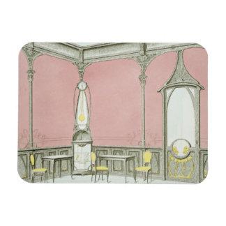 Interior design for a brasserie, illustration from rectangular photo magnet