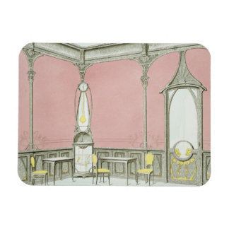 Interior design for a brasserie, illustration from rectangular photo magnet
