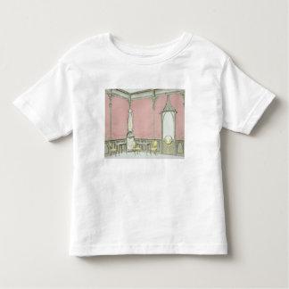Interior design for a brasserie, illustration from toddler T-Shirt