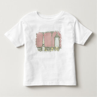 Interior design for a brasserie, illustration from toddler T-Shirt