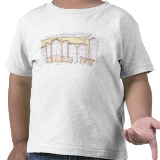 Interior design for a fashion shop, illustration f tee shirts