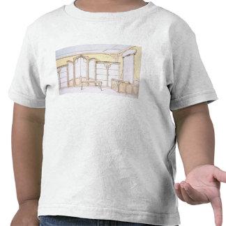 Interior design for a fashion shop, illustration f tees