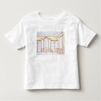 Interior design for a fashion shop, illustration f tshirts