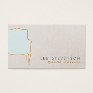 Interior Design  French Chair  Business Card