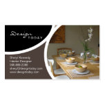 Interior Design Staging Modern Business Card 4