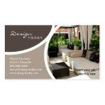 Interior Design Template Business Card Patio