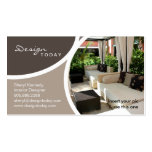 Interior Design Template Business Card Patio