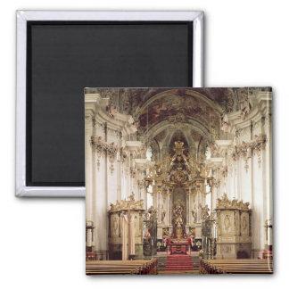 Interior, designed by Balthasar Neumann  1734-54 Square Magnet
