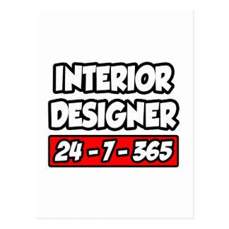 Interior Designer 24-7-365 Postcard