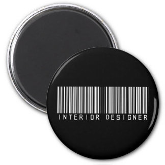 Interior Designer Bar Code Refrigerator Magnet