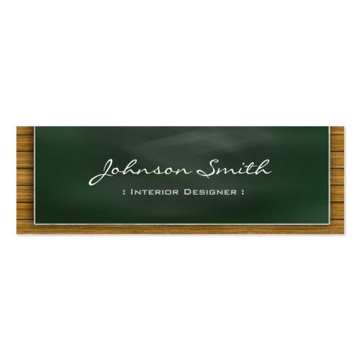 Interior Designer - Cool Blackboard Personal Business Card Template