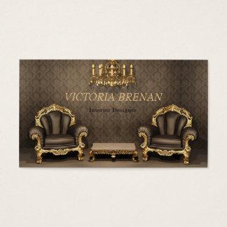 Interior Designer Furniture Decorator Classic Home Business Card