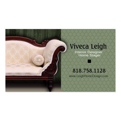 Interior Designer, Home Stager Business Cards