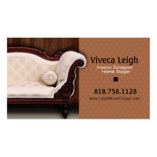 Interior Designer Home Stager Business Card Template