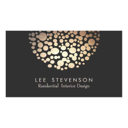 Interior Designer Lighting Black Modern Business Cards