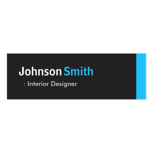 Interior Designer - Personal Aqua Blue Mini Business Cards