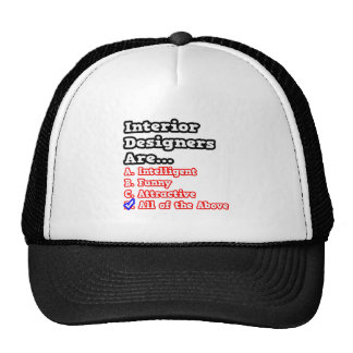 Interior Designer Quiz...Joke Mesh Hats