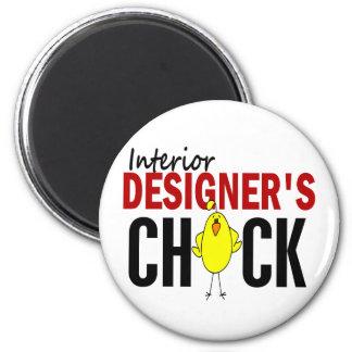 INTERIOR DESIGNER'S CHICK 6 CM ROUND MAGNET