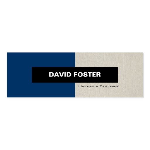 Interior Designer - Simple Elegant Stylish Business Card