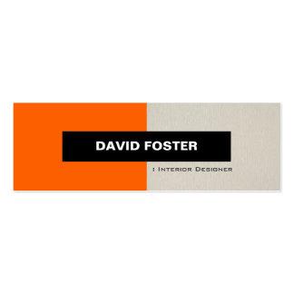 Interior Designer - Simple Elegant Stylish Pack Of Skinny Business Cards
