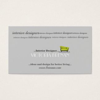 Interior Designer Sofa House Decorator Stylist Business Card