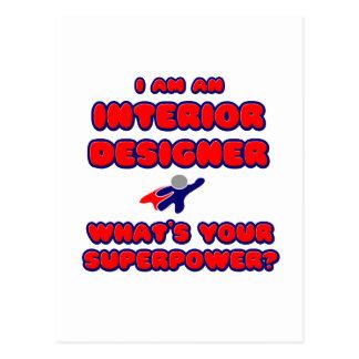 Interior Designer .. What's Your Superpower? Postcard