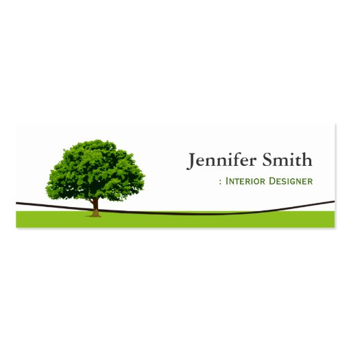 Interior Designer - Wise Oak Tree Symbol Business Card Template