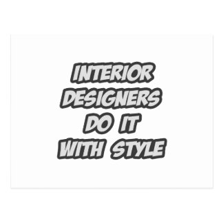 Interior Designers Do It With Style Postcard