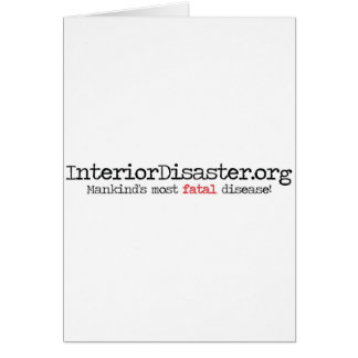 Interior Disaster Promotional Material Greeting Card