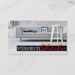 Interior Exterior Designer Furniture Store Business Card