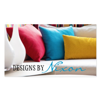 Interior Exterior Designer Furniture Store Business Card Template