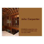 Interior framing of new house business cards