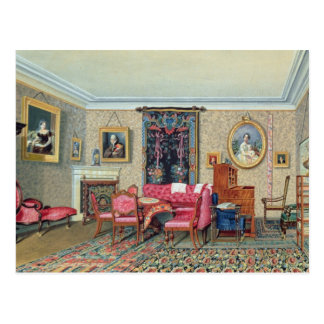Interior in Pavlino, 1840s Postcard