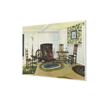 Interior Living Room View of the John Alden Canvas Print