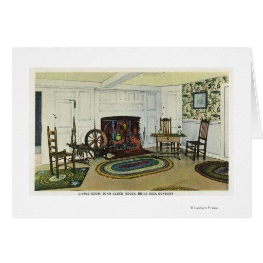 Interior Living Room View of the John Alden Card