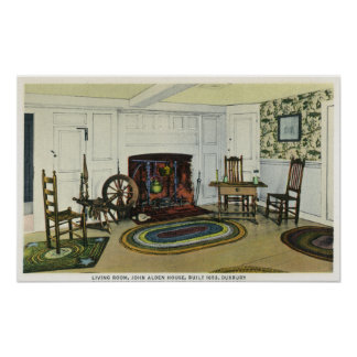 Interior Living Room View of the John Alden Poster