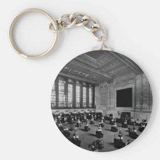 Interior New York Stock Exchange Lower Manhattan Key Ring