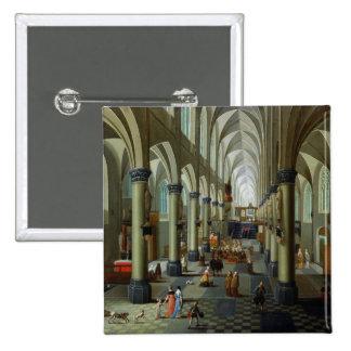 Interior of a Church 15 Cm Square Badge