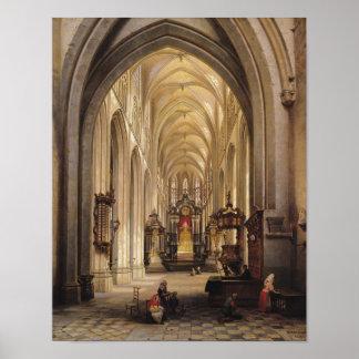 Interior of a Church, 1840 Poster