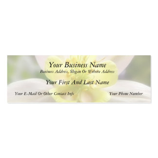 Interior Of A Delicate Columbine Pack Of Skinny Business Cards