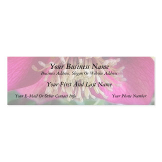 Interior Of A Delicate Spring Hellebore Flower Pack Of Skinny Business Cards