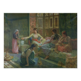 Interior of a Harem, c.1865 Print