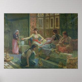 Interior of a Harem, c.1865 Poster
