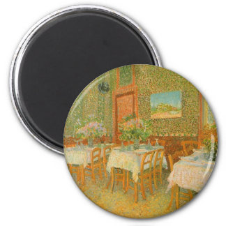 Interior of a Restaurant by Vincent van Gogh 6 Cm Round Magnet