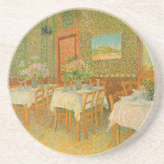 Interior of a Restaurant by Vincent van Gogh Coaster