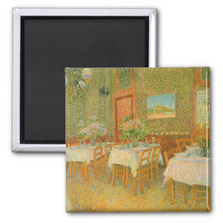 Interior of a Restaurant by Vincent van Gogh Square Magnet