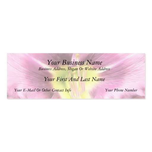 Interior Of A Ruffled Mauve Daylily Business Card Templates