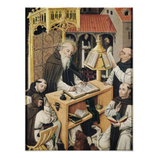 Interior of a Scriptorium, School of Segovia Poster