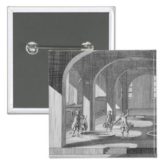 Interior of a Soap Factory, illustration for an en 15 Cm Square Badge